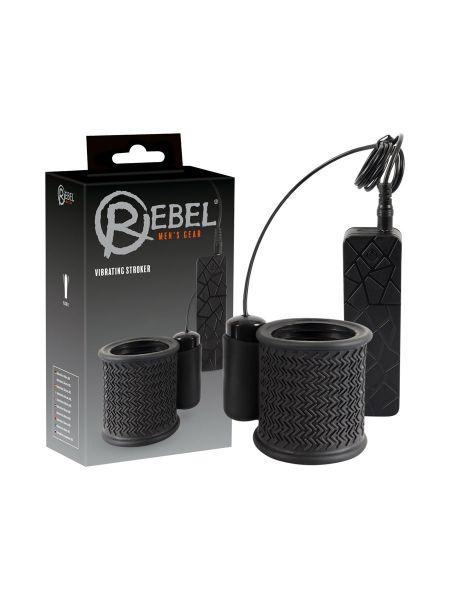 Rebel Vibrating Stroker: Masturbator, schwarz