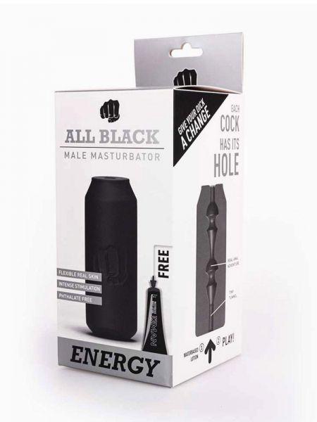 All Black Real Skin Touch Energy: Masturbator, schwarz