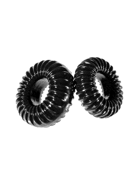 Perfect Fit Ribbed Ring Mixed: Cockring 2er Set, schwarz
