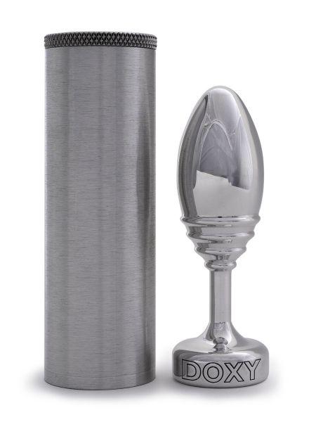 DOXY Ribbed: Aluminium-Analplug, poliert
