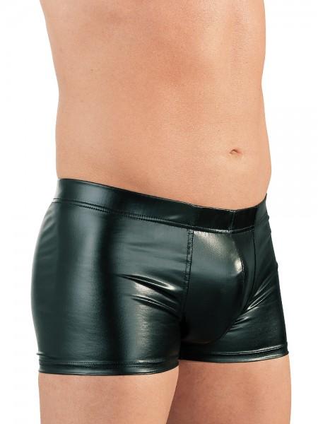 Wetlook-Penisring-Pants, schwarz