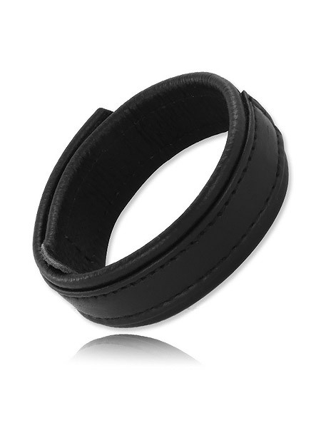 Black Label Velcro Leather Ball Stretcher 20mm: Hodenriemen, schwarz