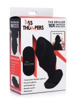 Ass Thumper The Driller 10X: Vibro-Analplug, schwarz