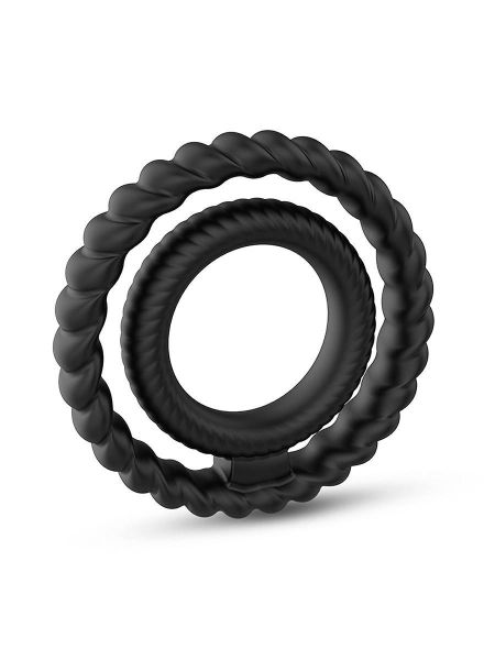 Dorcel Dual Cock Ring: Penis und Hodenring, schwarz
