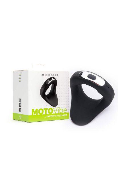 MOTOVibe Apex Cockring: Vibro-Penisring, schwarz