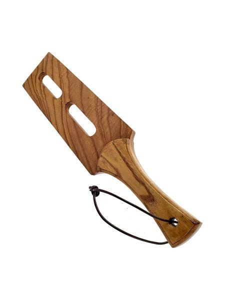 Black Label Wooden Slot Tawse: Holz-Paddle, braun