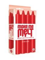 Make Me Melt Sensual Candles: SM-Kerzen-Set, rot
