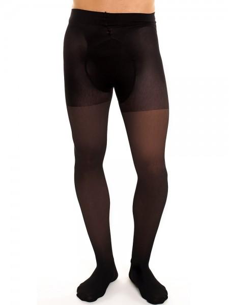 Glamory Support 70: Herren-Stützstrumpfhose, schwarz