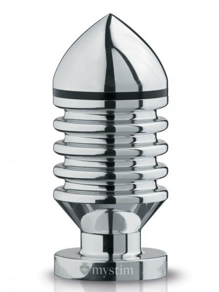 Mystim Hector Helix L: Elektro-Analplug aus Aluminium