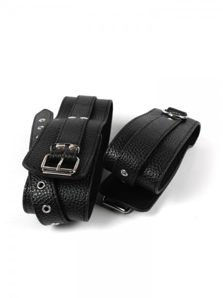 MOI Submission Sleek Garter: Oberschenkelfesseln, schwarz