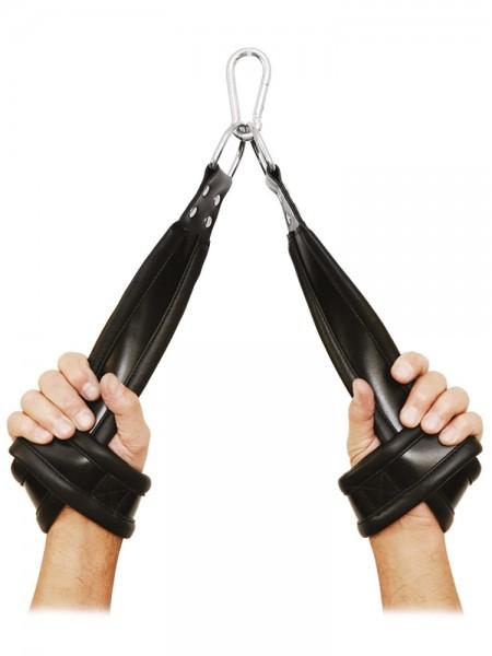 XxdreamSToys: Leder-Hängefesseln, schwarz