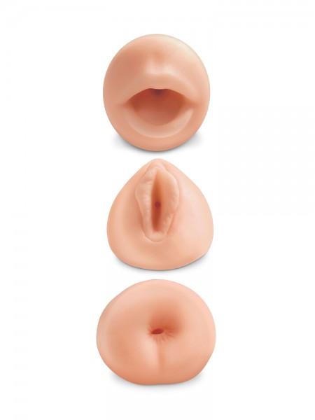 All 3 Holes: Masturbator-Set, haut