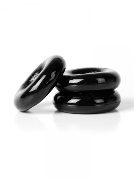 Sport Fucker Chubby Rubber: Penisringe-Set, schwarz