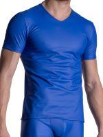 MANSTORE M2111: V-Neck-Shirt, blau