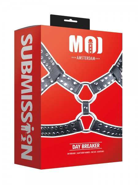 MOI Submission Day Breaker Mans Body Harness, schwarz