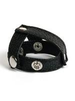 MOI Submission Split Ball: Hodenstretcher mit Hodentrenner, schwarz