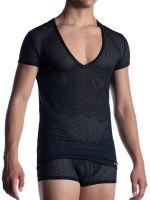 MANSTORE M2051: V-Neck-Shirt, schwarz