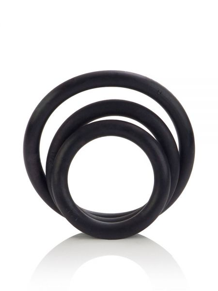Rubber Ring Set: Penisringe-Set, schwarz