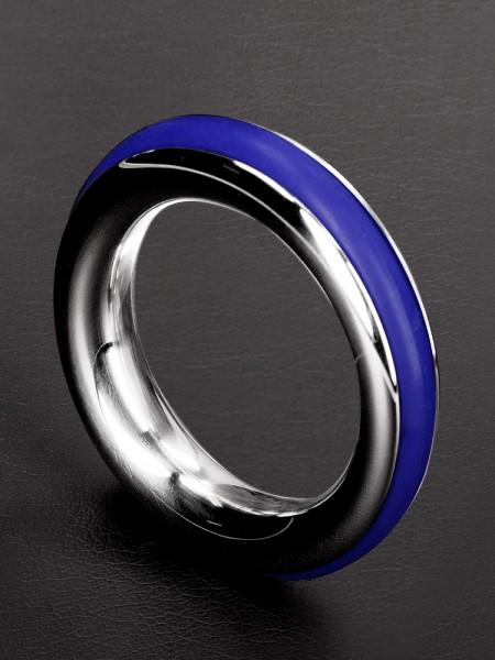 Triune Cazoo Cockings: Edelstahl-Penisring, blau