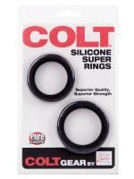 Colt Silicone Super Rings: Penisringe-Set, schwarz