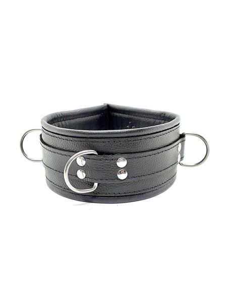 Black Label Leather Vampire Collar With Spikes: Halsband, schwarz