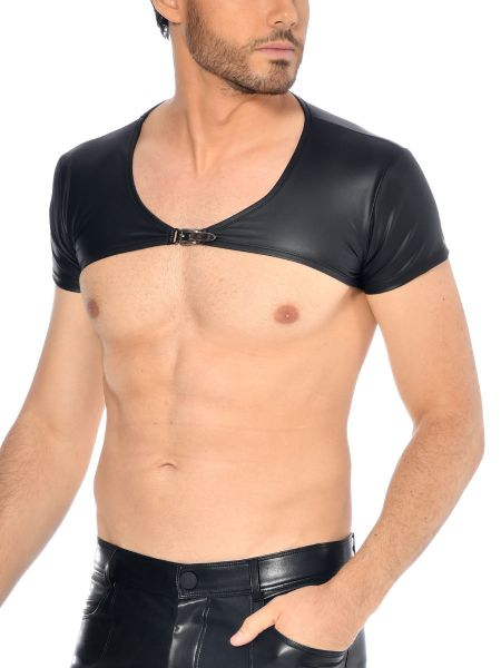 Patrice Catanzaro Joffrey: Wetlook-Bolero-Top, schwarz
