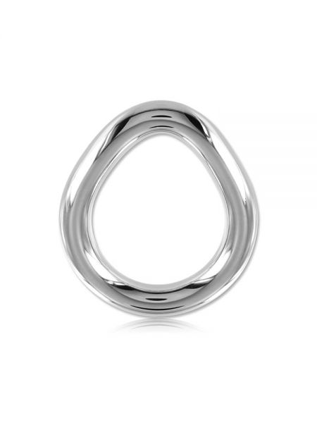 Black Label Stainless Steel Flared Cock Ring: Edelstahl-Penisring