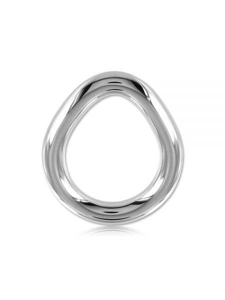 Black Label Stainless Steel Flared Cock Ring: Edelstahl-Penisring