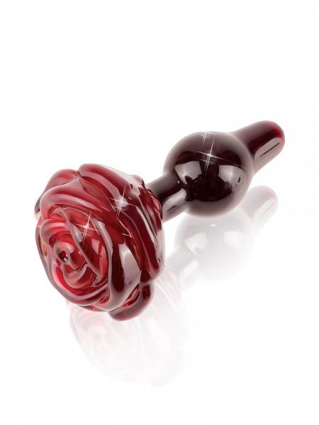Icicles No 76: Glas-Analplug, rot