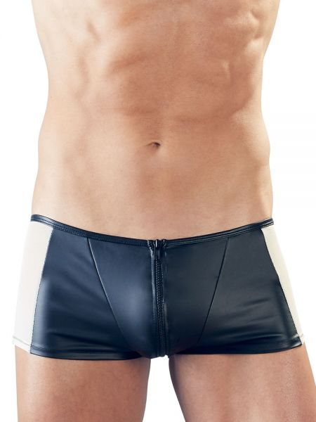 Mattlook-Zip-Pant, schwarz/nude