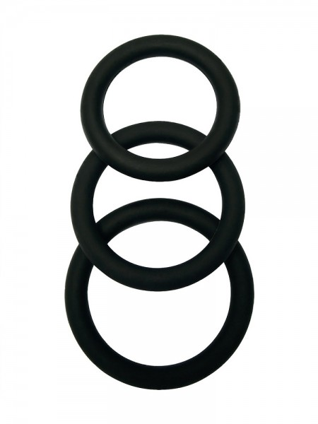Malesation Cock Ring Set: Penisringe-Set, schwarz
