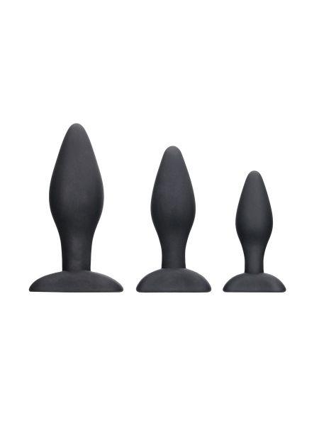 Ouch! Apex Butt Plug Set: Analplug-Set,schwarz