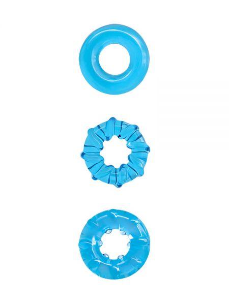 Renegade Dyno Rings: Penisring 3er Set, blau