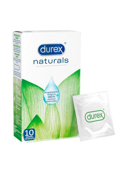 Durex Naturals Kondome mit extra Feuchtigkeit, 10er Pack