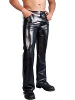 Kunstleder-Hose, schwarz