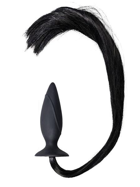 Horny Pony: Analplug mit Schweif, schwarz