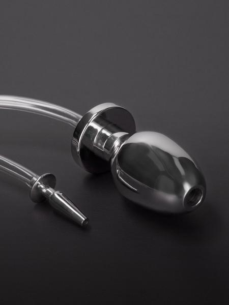 Triune Fire Hose: Edelstahl-Penisplug mit Schlauch und Analplug