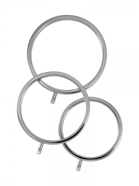ElectraStim ElectraRings: Elektro-Hodenringe 3er Set, silber