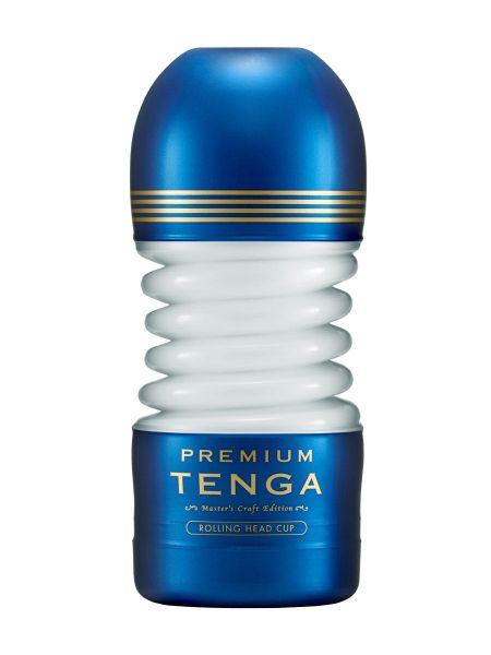 Tenga Premium Rolling Head: Masturbator, blau/gold