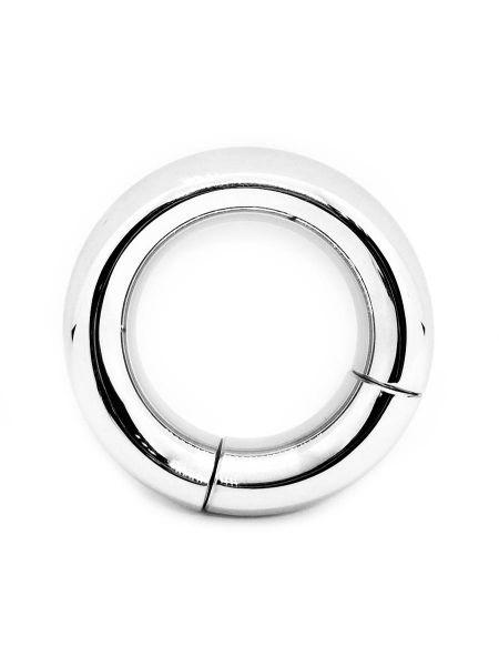 Black Label Stainless Steel Magnetic Donut: Edelstahl-Penisring