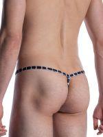 MANSTORE M800: Tarzan Strap, weiß/schwarz