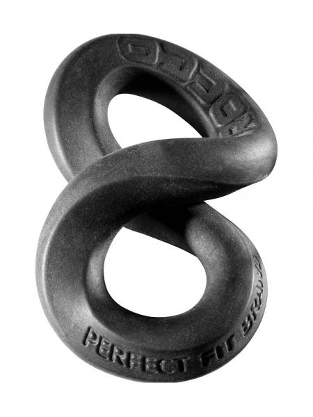 Perfect Fit The Rocco 3-Way XL Wrap Ring: Penis-/Hodenring, schwarz