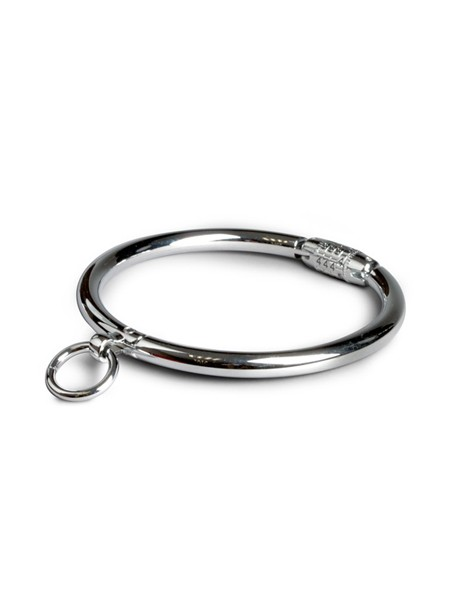 Black Label Stainless Steel Collar With Combination Lock: Verschliessbare Edelstahl-Halsfessel