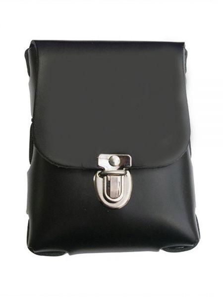 Black Label Leather Belt Bag Small: Leder-Handschellenetui, schwarz