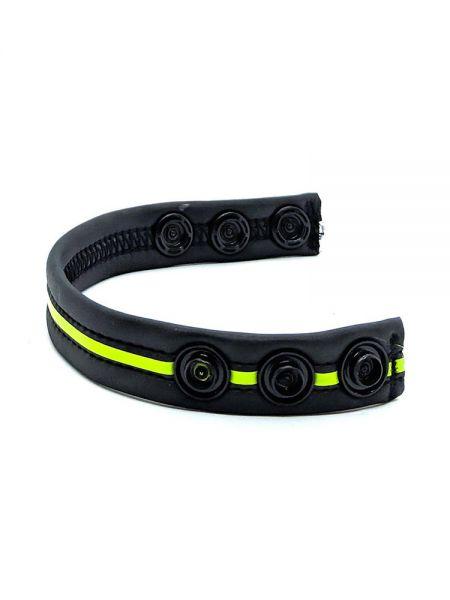Neoprene Racer Gun Strap: Penisring, schwarz/neon grün