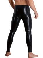 Latex-Leggings mit Penis-/Hodenhülle, schwarz