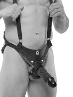 King Cock Hollow 10'': Strap-On (hohl), schwarz