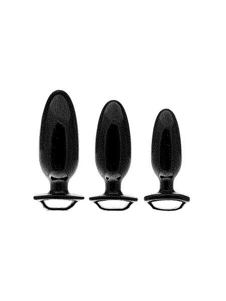 Perfect Fit Finger Grip Kit: Analplug 3er Set, schwarz