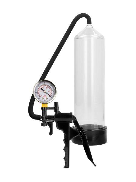 Pumped Elite Beginner Pump with PSI Gauge: Penispumpe, schwarz/transparent