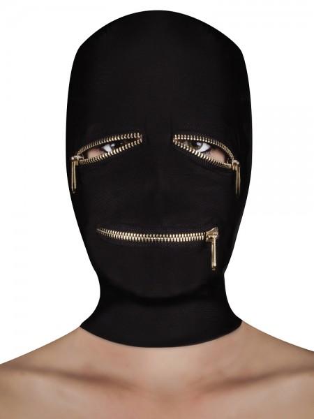 Ouch! Extreme Zipper Mask: Kopfmaske, schwarz